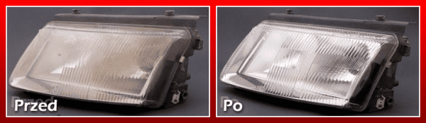 regeneracja reflektora - przed i po