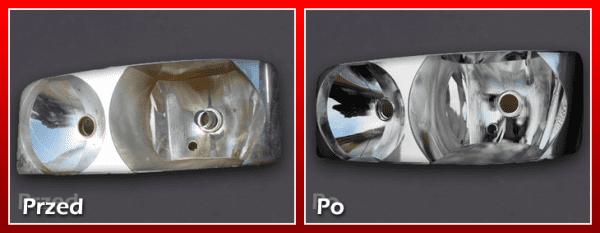 reflektor przed i po regeneracji